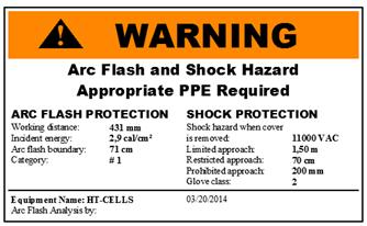 Warning sticker